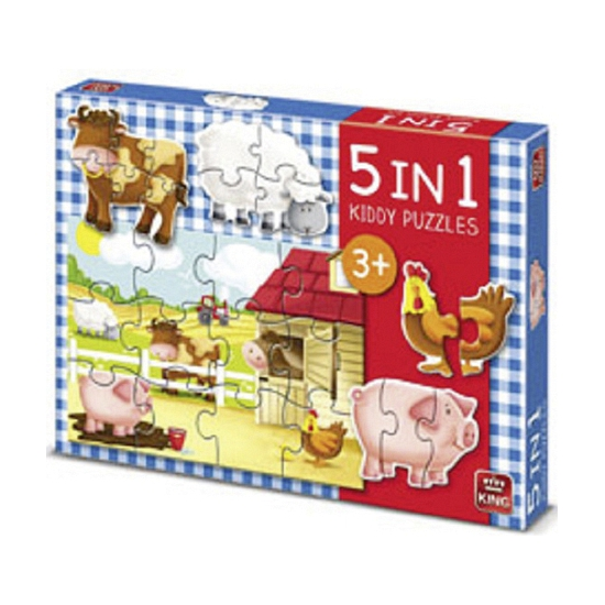 5 in 1 boerderij puzzels