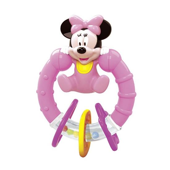 Baby rammelaar met bijtring Minnie Mouse