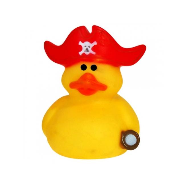 Badeendje kapitein met rode muts 5 cm