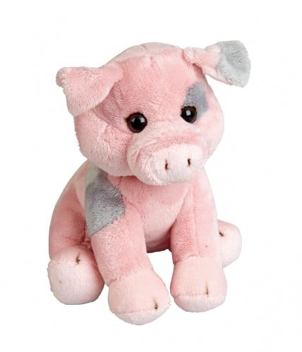 Biggen varken knuffels roze 19 cm