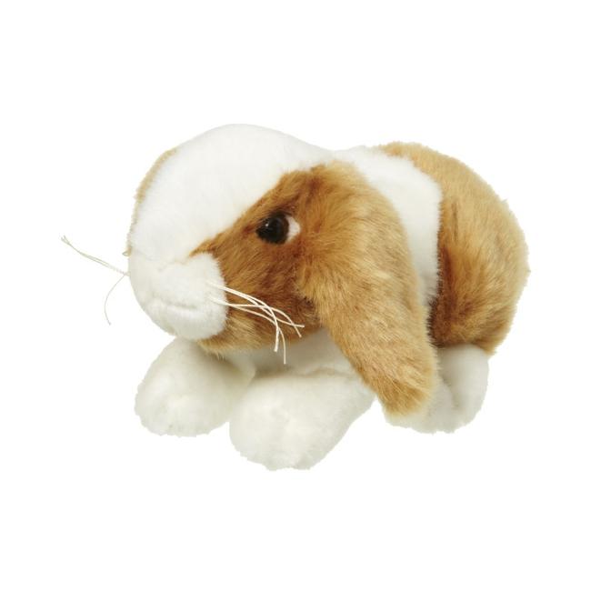 Bruin/wit konijnenknuffeltje 18 cm
