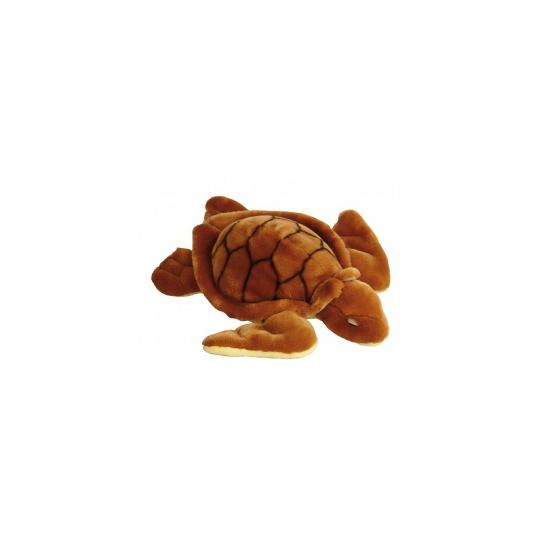 Bruine knuffel schildpad 34 cm