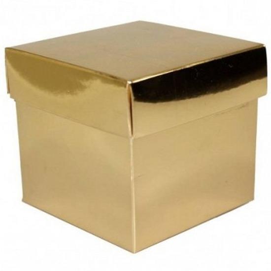 Etalage versiering goud kado doos 10 cm