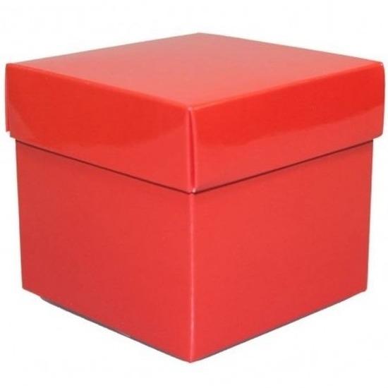 Etalage versiering rood kado doos 10 cm
