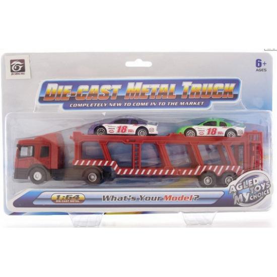 Kinder auto transportwagen met 2 autos