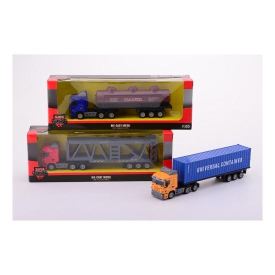 Model vrachtwagen met container