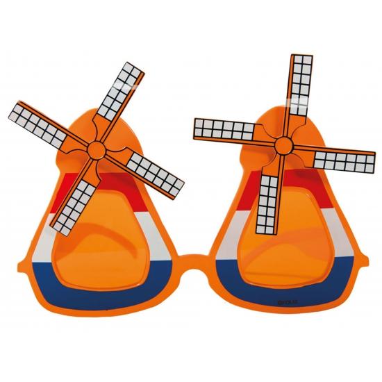 Oranje molen bril volwassenen