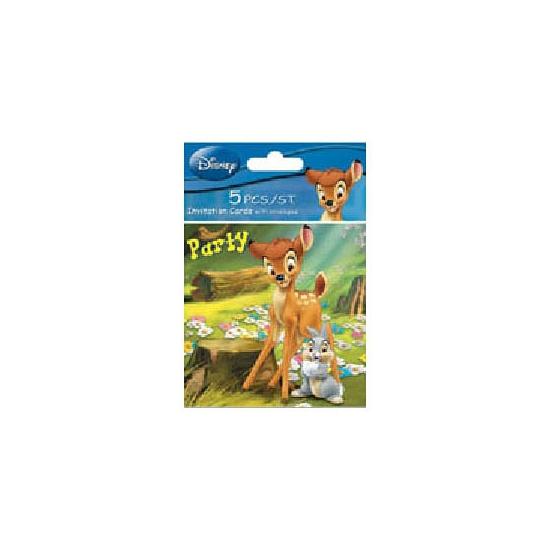 Verjaardagspartijtje uitnodigingen Bambi