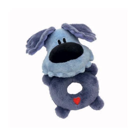 Woezel rammelaar blauwe knuffel