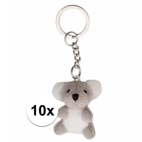 10x Koala knuffel sleutelhangers 6 cm