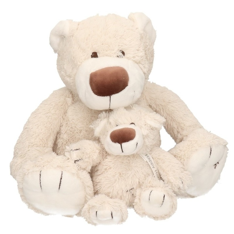 2x Pluche mama en kind Baggio knuffelberen 40/22 cm knuffels
