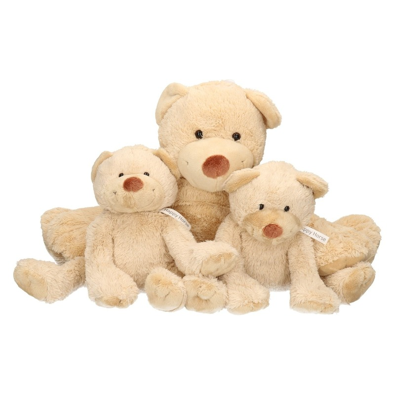 3x Boogy mama en kindjes knuffelberen 35 en 24 cm