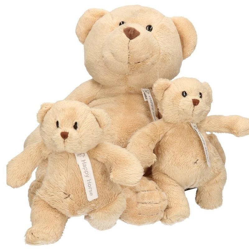 3x Buster mama en kindjes knuffelberen 40 en 23 cm