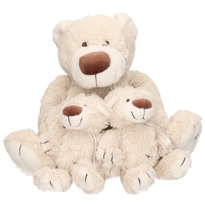 3x Pluche mama en kinderen Baggio knuffelberen 40/22 cm knuffels