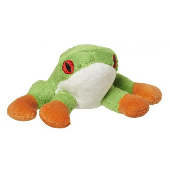 Amfibie knuffel boomkikker 10 cm