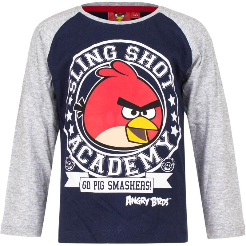 Angry Birds t-shirt blauw-grijs voor jongens
