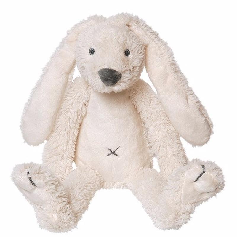 Baby knuffel konijn wit 28 cm