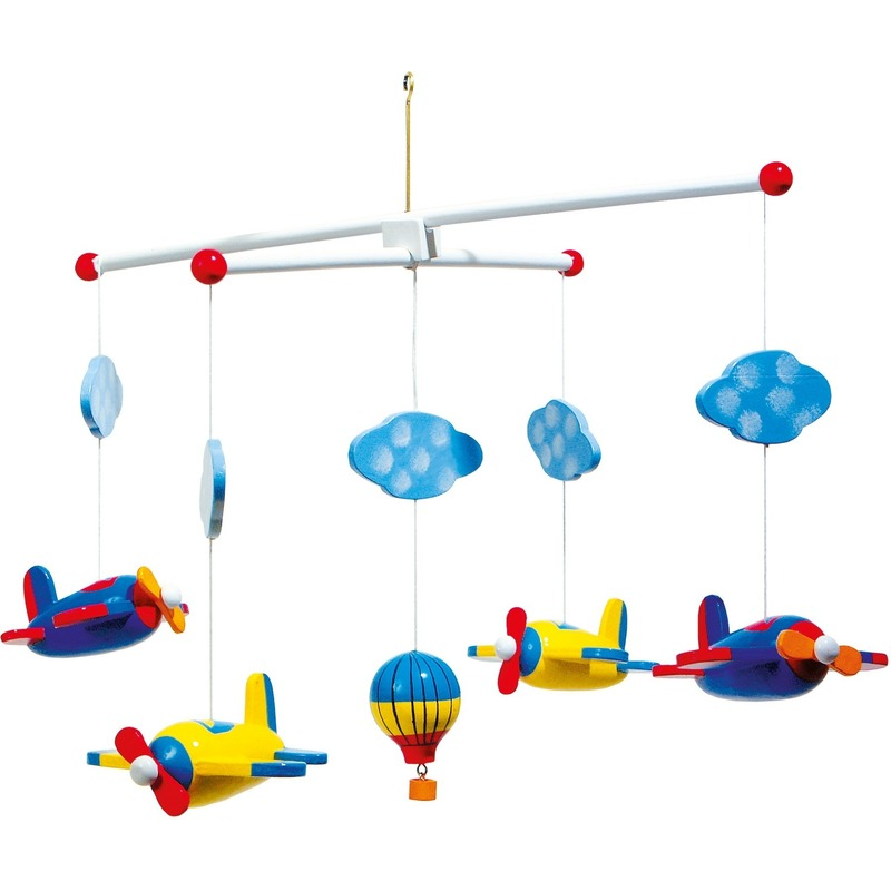 Speelgoed diversen Geen Baby mobiel met gekleurde vliegtuigen 44 cm