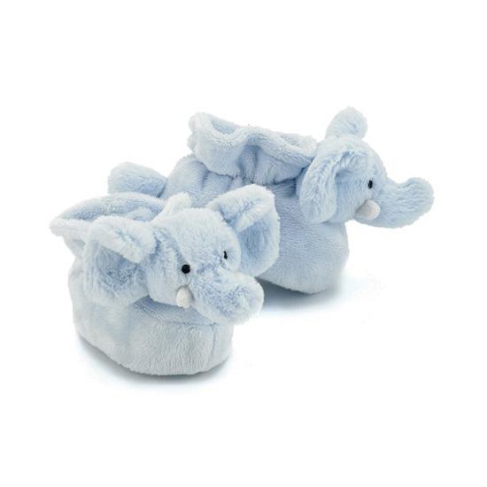 Baby pantoffels olifant