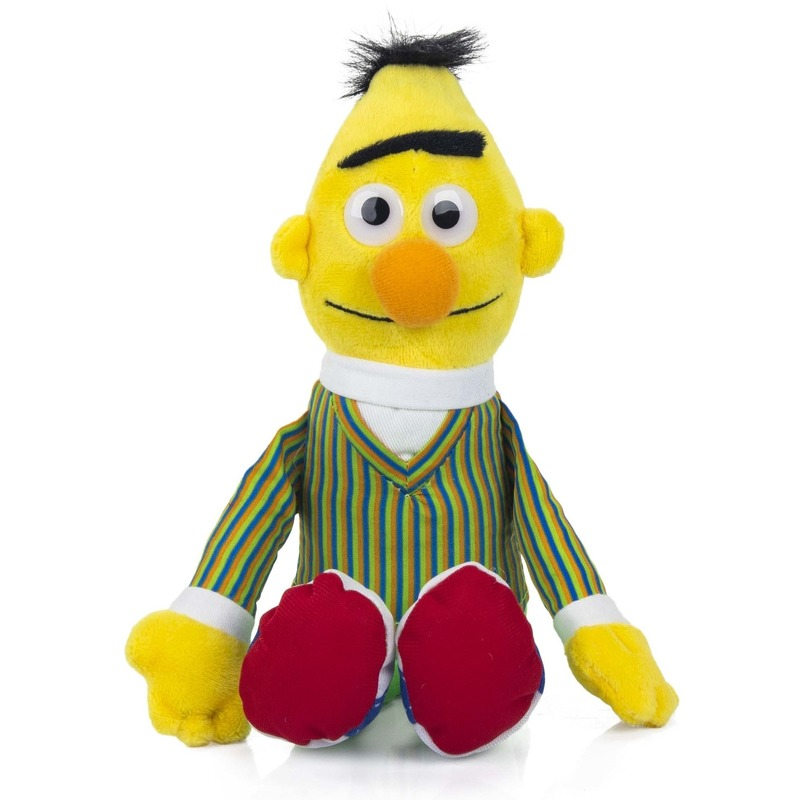 Bert Sesamstraat pluche knuffel 25 cm
