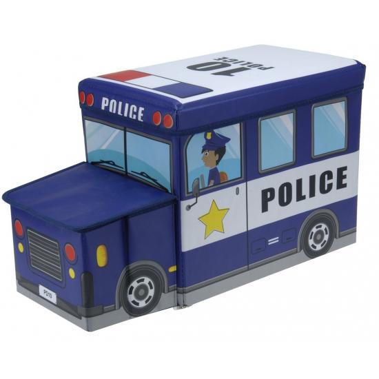 Geen Blauw kinderstoeltje en opbergbak in politiewagen model 55 cm Speelgoed diversen
