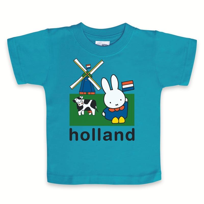 Blauw Nijntje baby t-shirt Holland