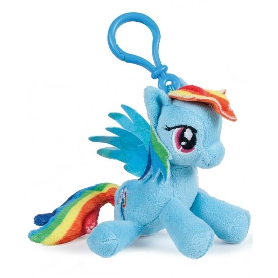 Blauw Rainbow Dash My Little Pony knuffeltje 12 cm