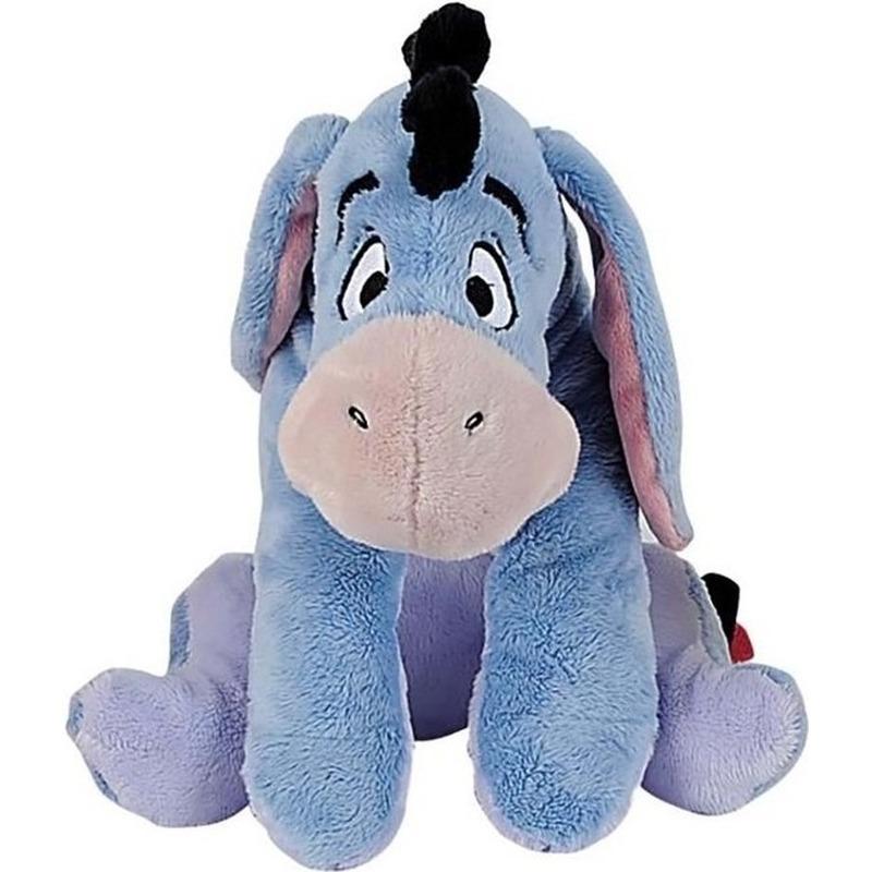 Blauwe Disney Iejoor ezel knuffel 19 cm speelgoed
