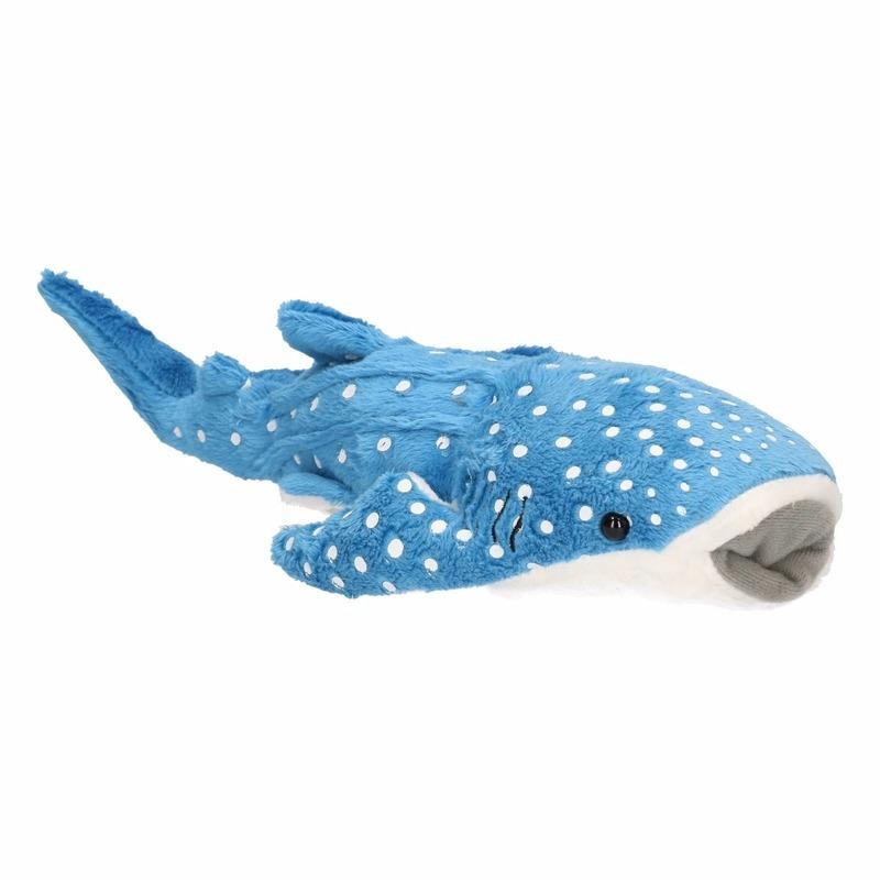 Blauwe knuffel walvis haai 28 cm