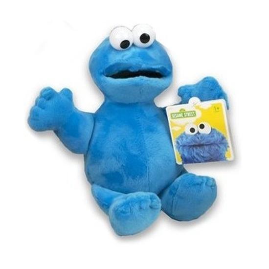 Blauwe pluche Koekiemonster Sesamstraat knuffel/pop 17 cm