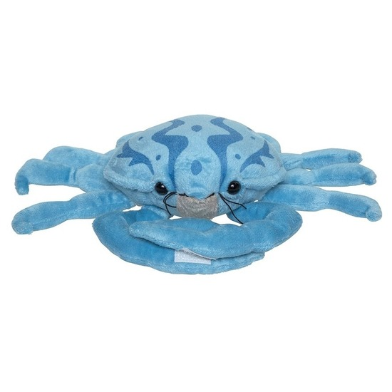Blauwe pluche krab knuffel 25 cm