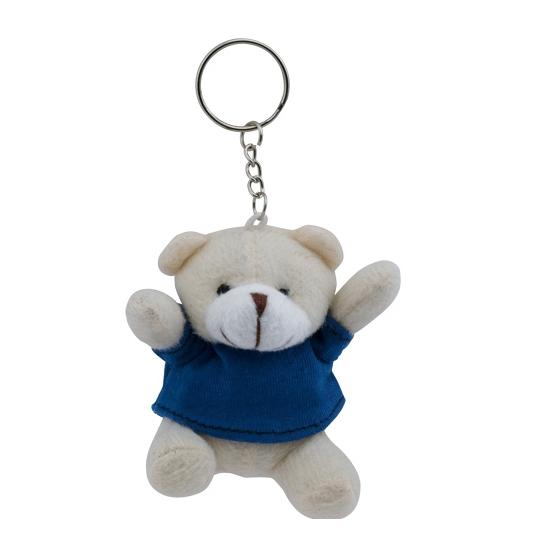 Blauwe teddybeer sleutelhanger