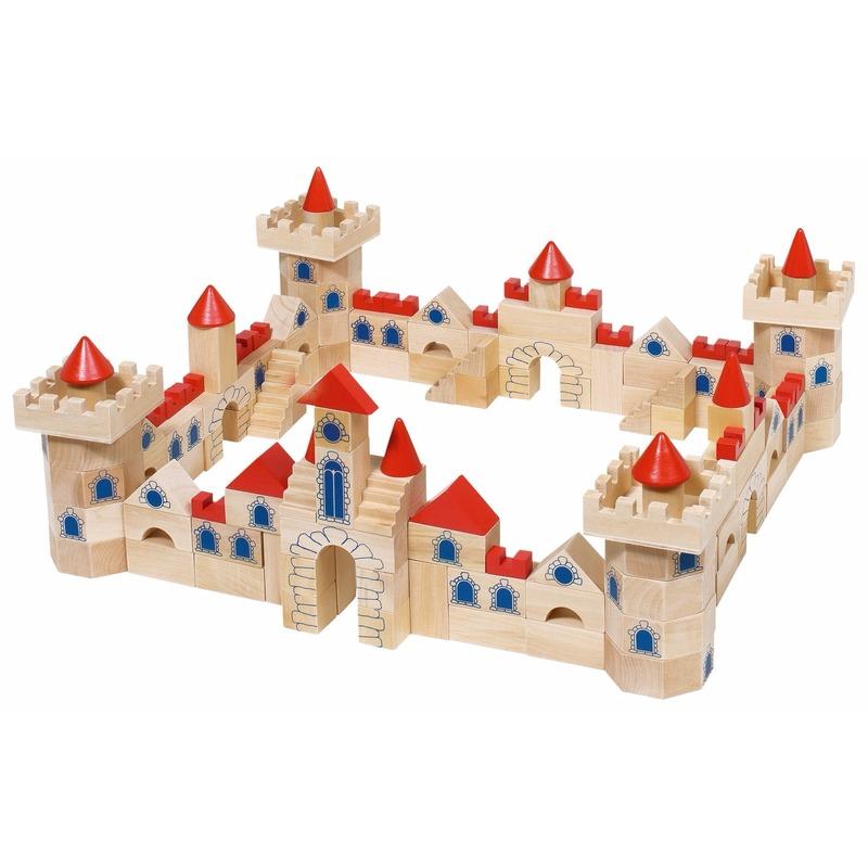 Bouwblokken kasteel in een doosje 145 delig Geen te koop