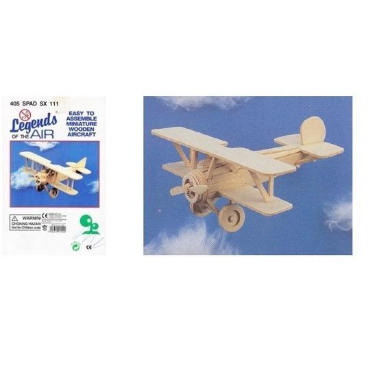 Bouwmodel set vliegtuig Nieuwport 404 en 405 Spad Geen Educatief speelgoed