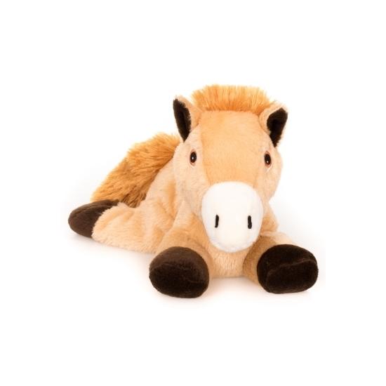 Bruin paarden knuffel kruik geboorteknuffel 18 cm