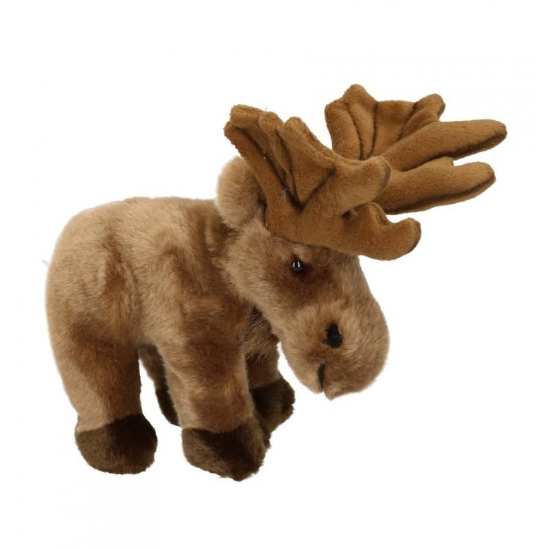 Bruine eland knuffel 20 cm