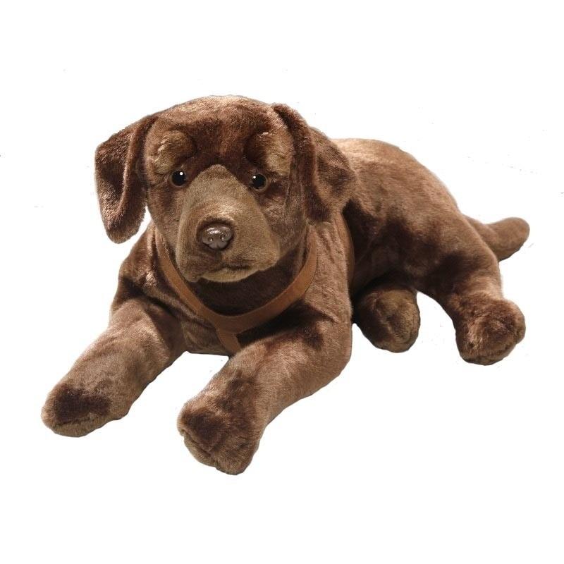Bruine knuffel Labrador hond 50 cm