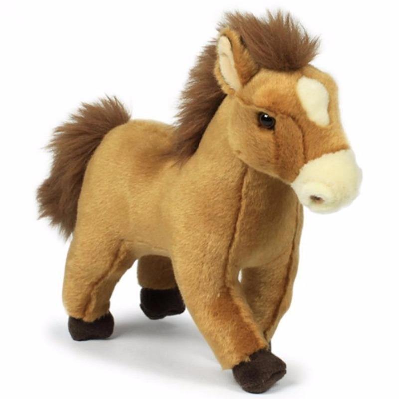 Bruine paarden knuffeldier 23 cm WNF Goedkoop