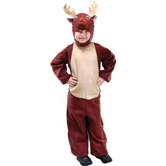 Rendieren outfit voor kinderen. bruin rendier pak voor kinderen inclusief capuchon.