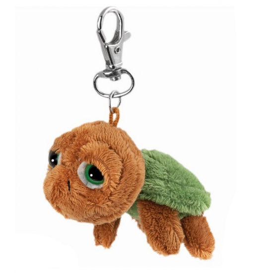 Bruine schildpad sleutelhanger
