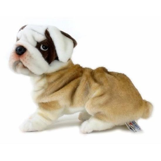 Bulldog knuffeldieren de luxe 30 cm