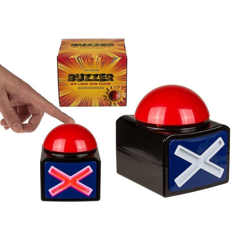 Buzzer TV show quiz drukknop met licht en geluid Geen Kopen