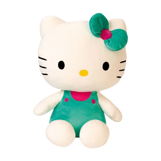 Cartoon knuffel Hello Kitty groen 30 cm