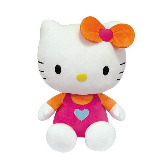 Cartoon knuffel Hello Kitty roze 50 cm