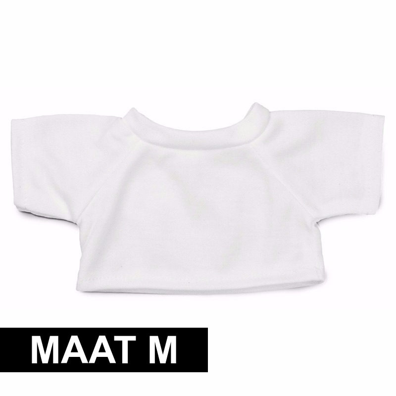 Clothies Knuffel Cadeau Shirt M Wit Met Ruimte Voor Wens