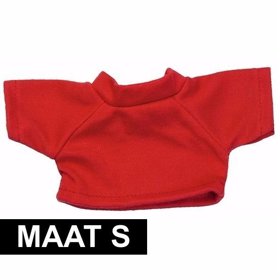 Clothies Knuffel Cadeau Shirt S Rood Met Ruimte Voor Wens