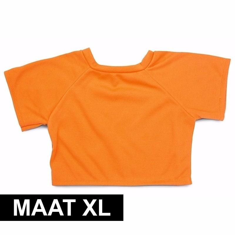 Clothies Knuffel Cadeau Shirt Xl Oranje Met Ruimte Voor Wens