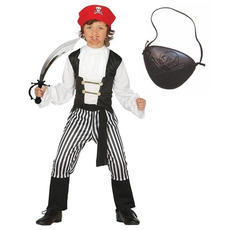 Geen Compleet piraten kostuum maat 128 134 voor kinderen Geschiedenis kostuums
