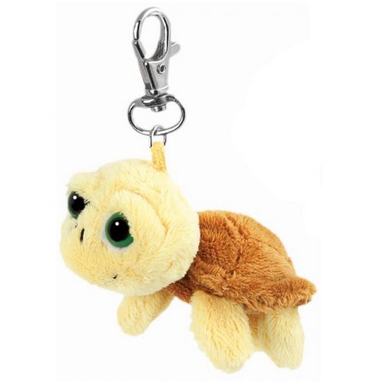 Creme schildpad sleutelhanger