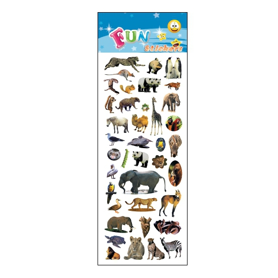 Schoolspullen Geen Dieren feest stickers
